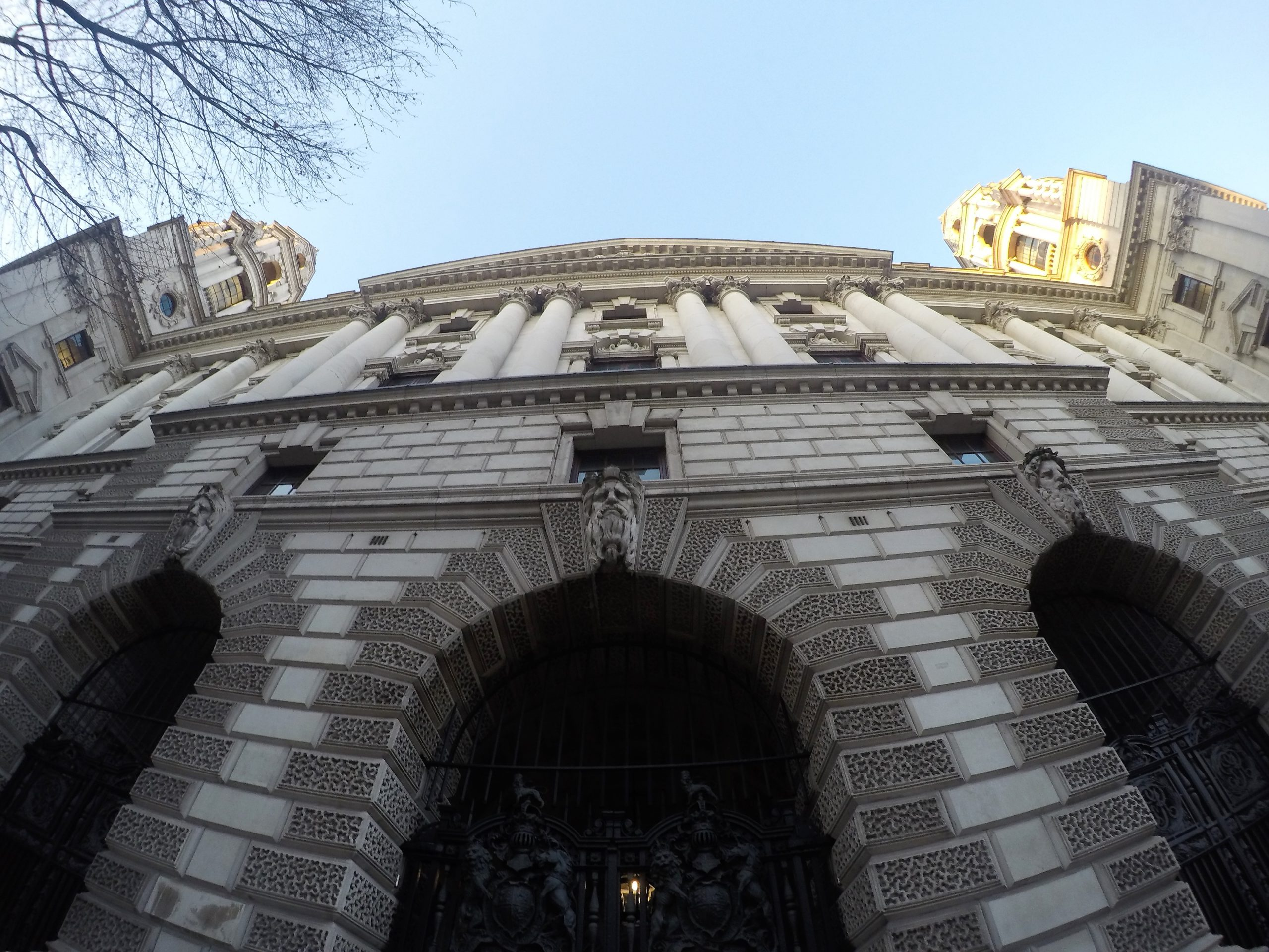 Front of UK Treasury Building